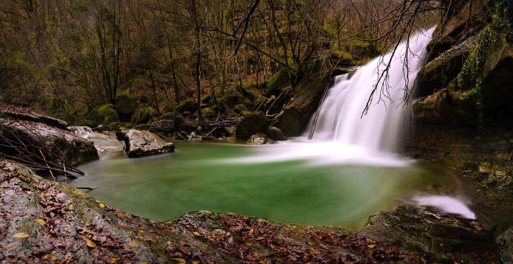 Le cascate dell'Acquacheta nel Parco delle Foreste Casentinesi
