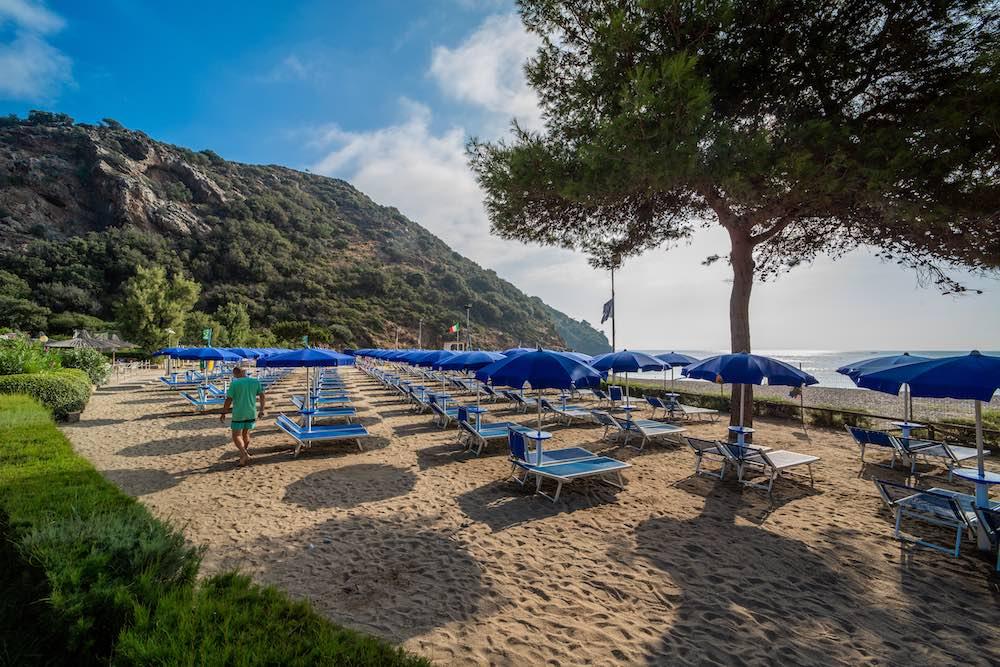Spiaggia del villaggio vacanze sul mare all'Isola d'Elba TH Ortano