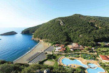 Panoramica del villaggio vacanze sul mare all'Isola d'Elba TH Ortano